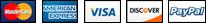 Moyens de paiement acceptés, Mastercard, Eurocard, Visa, Paypal