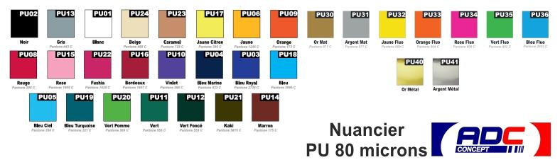 Flex de découpe PU 80 microns
