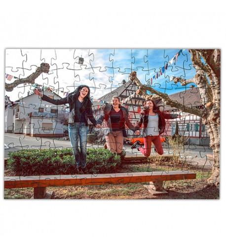 Puzzle en bois 24,8 x 35,6 cm avec 96 pièces ép. 3 mm