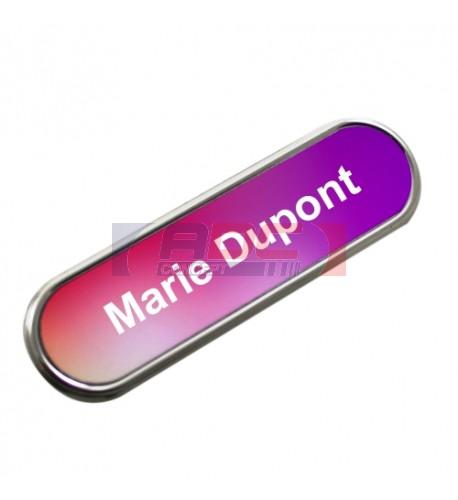 Badge en métal ovale