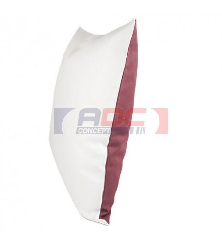 Housse de coussin bicolore framboise 40 x 40 cm surface structurée (vendu à l'unité)