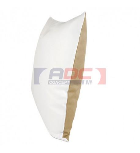 Housse de coussin bicolore moka 40 x 40 cm surface structurée (vendu à l'unité)