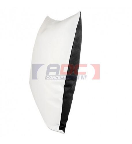 Housse de coussin bicolore noir 40 x 40 cm surface structurée (vendu à l'unité)