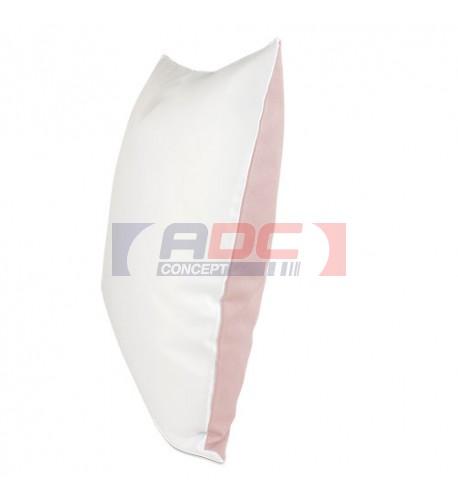 Housse de coussin bicolore rose 40 x 40 cm surface structurée (vendu à l'unité)