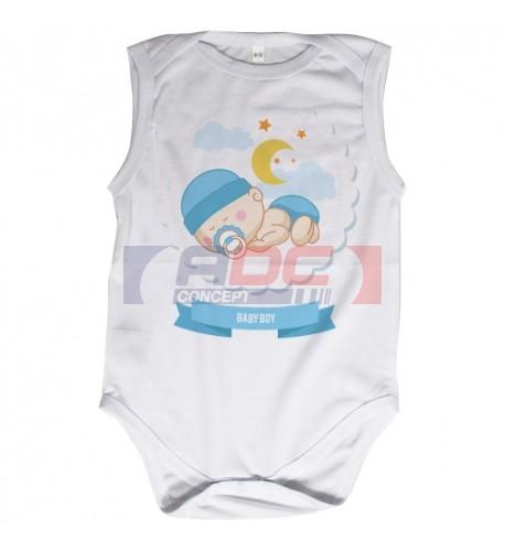 Body bébé Royal Subli sans manches blanc - 5 tailles (vendu à l'unité)