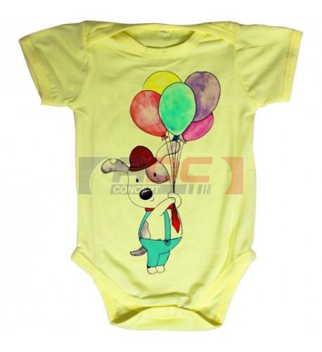 Body bébé Royal Subli manches courtes jaune - 5 tailles