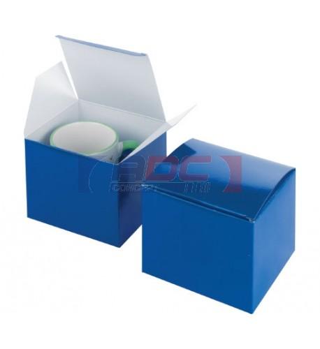 Boite cadeau bleue 13 x 12 x 10,5 cm pour mug