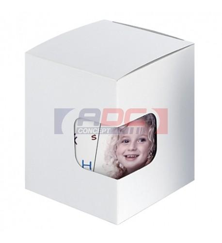Boite mug blanche ou argentée avec fenêtre