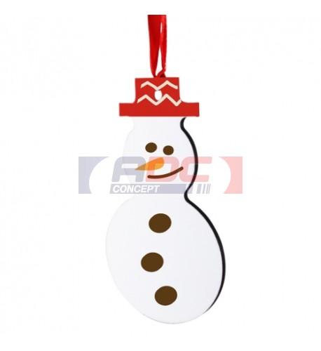 Bonhomme de neige Décoration blanche à suspendre MDF
