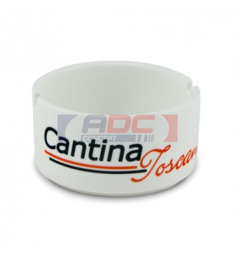 Cendrier en céramique H 4,2 cm  Ø 7,5 cm traité polyester