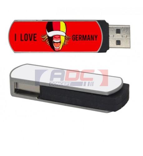 Clé USB 8 Go avec plaque aluminium pour sublimation (vendu à l'unité)