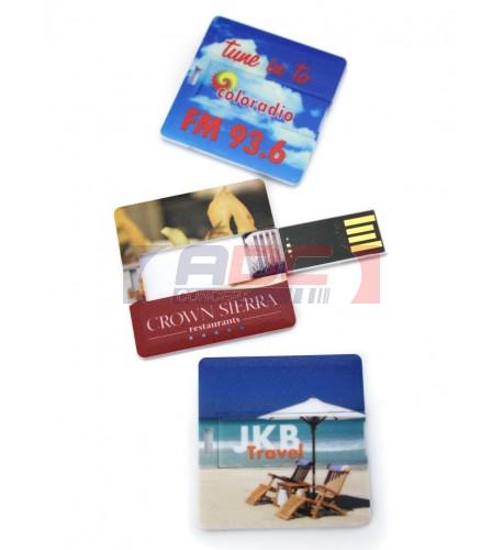Clé USB Mini Carte format carré - Mémoire 8 Go