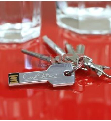 Clé USB en forme de clé aluminium - Mémoire 8 Go