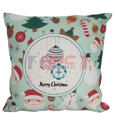 Housse de coussin de Noël verte 45 x 45 cm pour sublimation (vendu à l'unité)
