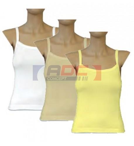 Débardeur couleur blanc pour femme 220 gr/m²