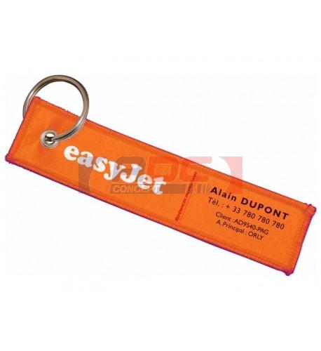 Étiquette bagage tissu