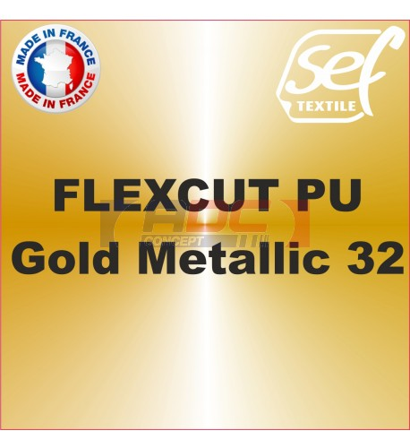 PU FlexCut Gold Metallic 32
