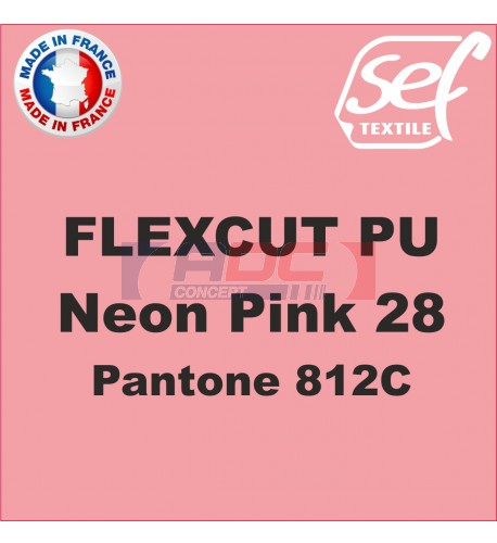 Flex thermocollant PU FlexCut Rose Fluo 28