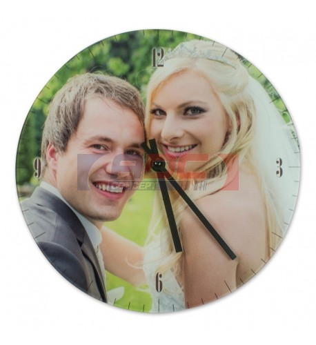 Horloge ronde murale en verre lisse Ø 18 cm