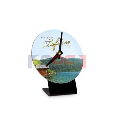 Horloge de table ronde plastique