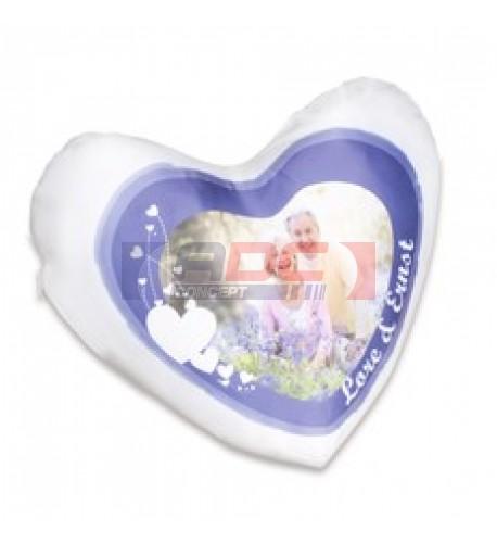 Housse de coussin coeur blanche non satinée 40 x 44 cm