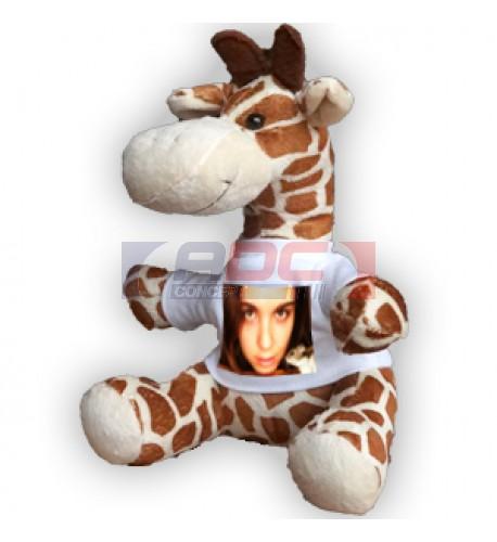 Peluche girafe H 22 cm