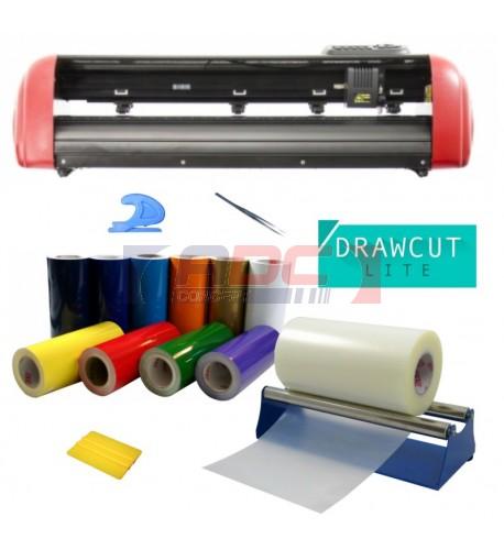 Kit Signalétique C60IV avec plotter de découpe et vinyles adhésifs au choix