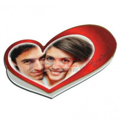 Magnet en MDF format petit coeur 6 x 4 cm - Epaisseur 3 mm (vendu à l'unité)