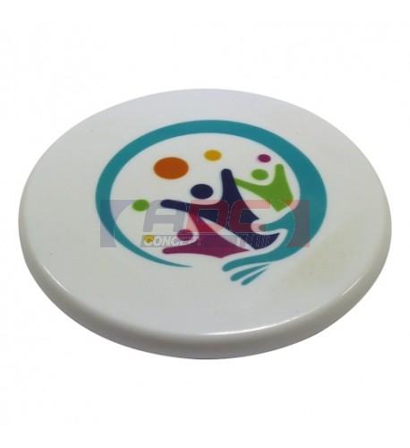 Magnet blanc en polymère (plastique incassable) format rond