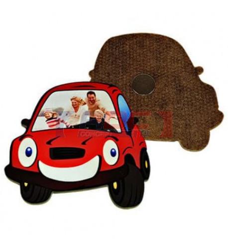 Magnet en MDF format voiture 7 x 7 cm - Epaisseur 3 mm (vendu à l'unité)