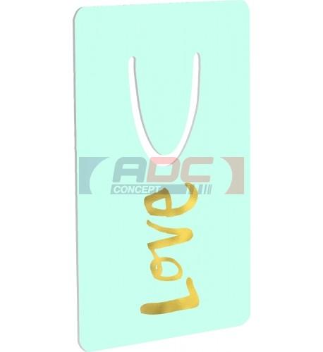 Marque-page aluminium blanc brillant Unisub 5,1 x 7,6 cm