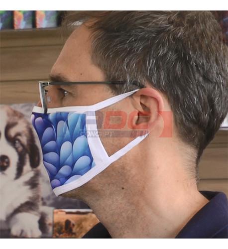 Masque respiratoire en tissu blanc 100% polyester - Taille L (vendu à l'unité)