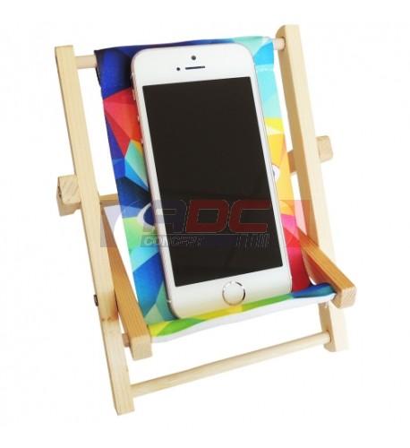 Mini chaise de bureau pour téléphone portable avec toile (vendu à l'unité)
