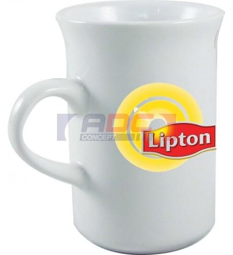 Mug à thé blanc traité polyester dimension : H 11 cm - Ø 7,7 cm