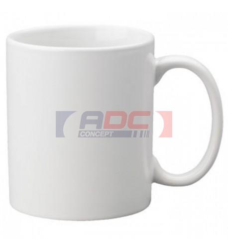 Mug blanc brillant traité 100% polyester H 9,5 cm Ø 8 cm