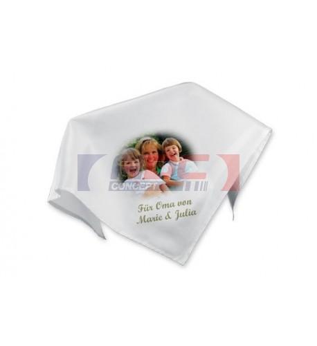 Nappe en tissu blanc lisse 100% polyester
