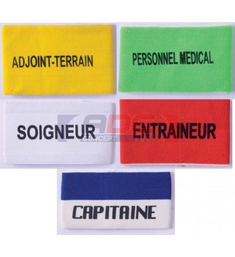 Brassard de sport uni ou bicolore avec marquage inclus PA677