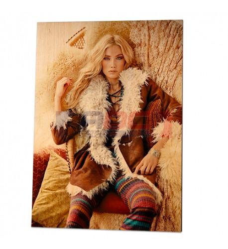 Panneau photo en bois de bouleau surface blanche naturelle 200 x 85 x 13 mm (vendu à l'unité)