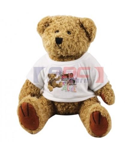 Peluche ours brun Teddy H 18 cm