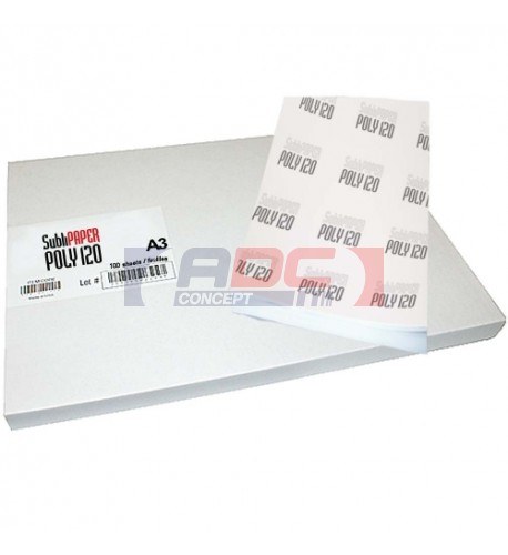 Papier transfert de sublimation Sublipaper Poly 120 A3+ (32.9 x 48.3 cm)