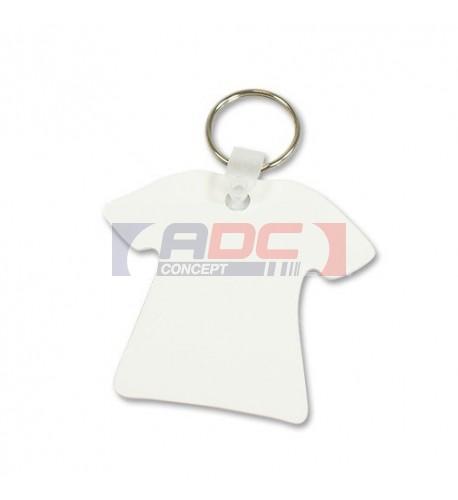 Porte-clé aluminium forme tee-shirt