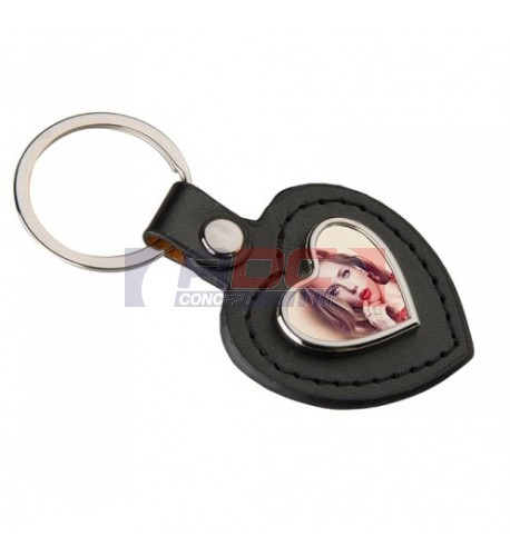 Porte-clé en polyuréthane format coeur 45 x 87 mm (vendu à l'unité)