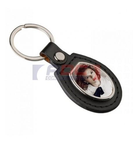 Porte-clé en polyuréthane format ovale 40 x 90 mm