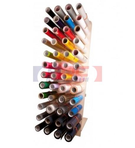 Porte-rouleau mural ou sur stand pour stockage 48 bobines