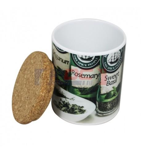Couvercle en liège pour mugs et pots à crayons