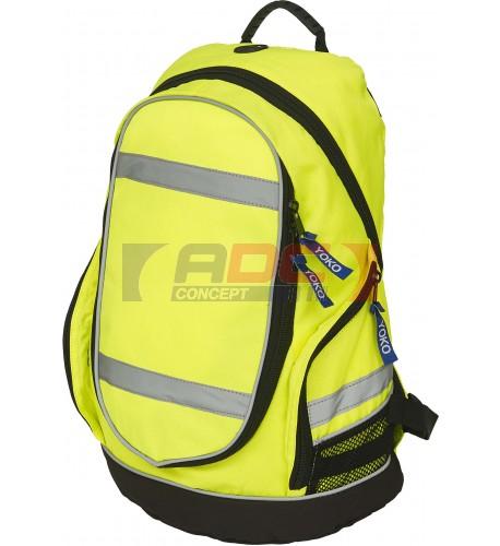Sac à dos London YYK8001 jaune fluo haute visibilité marque YOKO