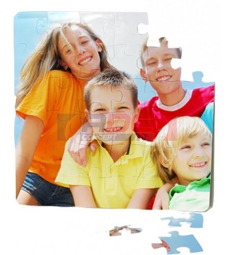 Puzzle en polymère carré 16 x 16 cm épaisseur 3 mm (vendu à l'unité)