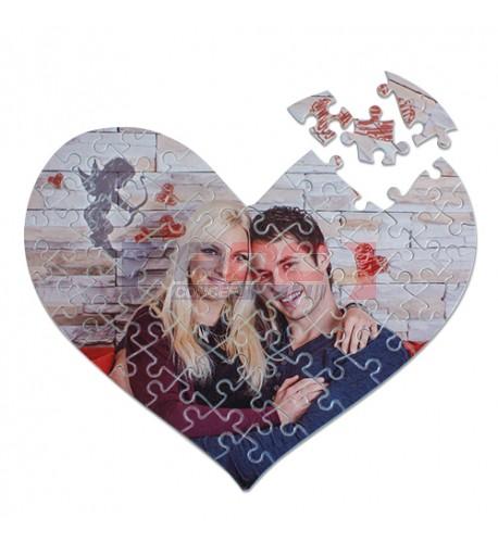 Puzzle coeur 20 x 25 cm épaisseur 2 mm - 63 pièces