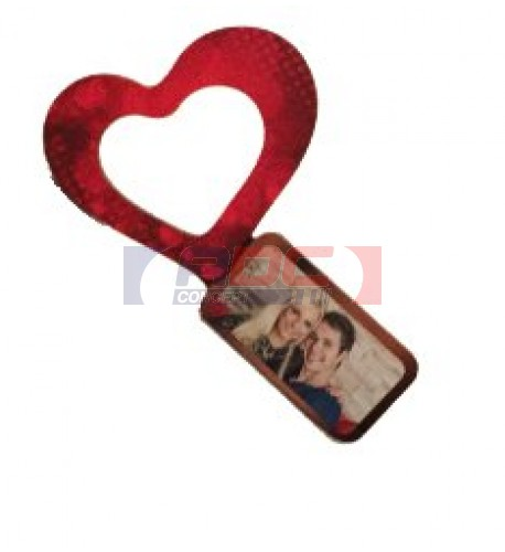 Bague de serviette en fibre sublimable forme coeur