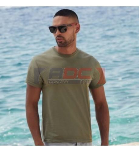 Tee-shirt homme blanc SC6 (21 coloris) 140 gr/m² 100% coton S à XXXXXL (vendu à l'unité)